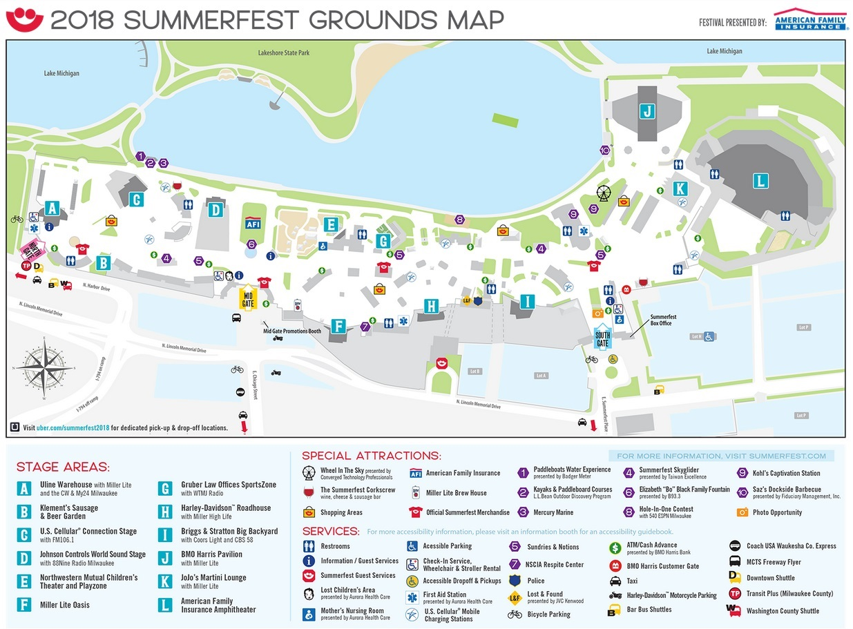 Summerfest Grounds Map